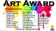 Art Award certificate